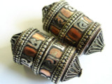 Copper & Brass Prayer Tibetan Bead 50mm (TB317)