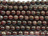 Garnet Irregular Round Gemstone Beads 6mm (GS2014)