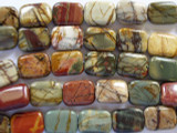 Red Creek Jasper Rectangular Tabular Gemstone Beads 18mm (GS2024)