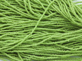 Lime Green Seed Beads - Ghana 1mm (AT145)