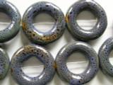 Ring 26mm - Glazed Purple Porcelain Beads (PO355)