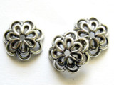 Pewter Flower Cap 14mm (PB230)