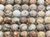 Picture Jasper Faceted Round Gemstone Beads 10mm (GS2239)