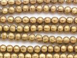 Brass Irregular Round Metal Beads 8mm - Ethiopia (ME244)
