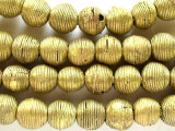 Brass Round Metal Beads 15-18mm - Ghana (ME258)