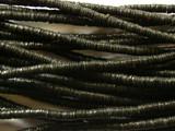 Black Vinyl Disc Beads 3mm (VY13)