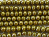 Gold Antique Metallic Potato Pearl Beads 7mm (PRL19)