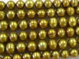 Gold Metallic Potato Pearl Beads 8mm (PRL26)