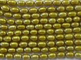 Antiqued Gold Rice Pearl Beads 5mm (PRL58)