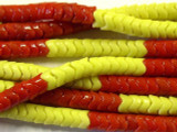 Red & Yellow Glass Snake Trade Beads 6mm (AT19)