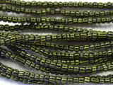 Black w/Stripes Glass Trade Beads - Africa 3mm (AT94)