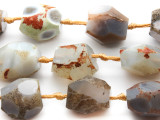 Large Faceted Rough Agate Gemstone Beads 25mm (GS2549)