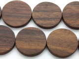 Round Tabular Sono Wood Beads 35-37mm - Indonesia (WD203)
