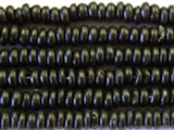 Black Rondelle Disc Wood Beads 5mm - Indonesia (WD245)