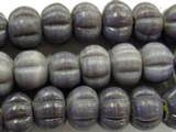 Purple Fluted Glass Beads 18mm (JV770)