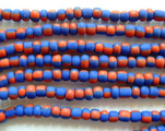 Red & Blue Small Glass Beads 3mm (JV900)