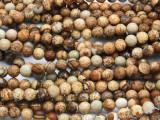 Picture Jasper Round Gemstone Beads 6mm (GS365)