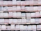 Rose Quartz Cube Gemstone Beads 5-6mm (GS166)