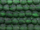 Green Recycled Glass Beads 12-13mm - Africa (RG102)