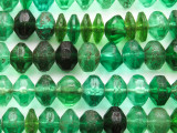 Old Green Faceted Vaseline Beads 16mm (AT33)