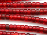 Old Transparent Red Padre Trade Beads 8-10mm - Africa (AT26)