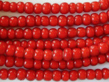 Red White Heart Trade Beads 7-8mm (AT3770)