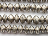 Silver Metal Saucer Beads 12-14mm (ME67)