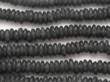 Dark Gray Disc Recycled Glass Beads 10-14mm - Africa (RG18)