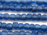 Blue Recycled Glass Beads 10mm - Africa (RG399)