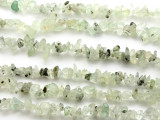 "Prehnite Chip Gemstone Beads - 34"" strand (GS505)"