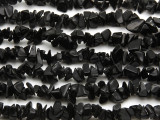 "Black Stone Chip Gemstone Beads - 34"" strand (GS503)"