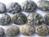 Granite Large Oval Tabular Gemstone Beads 24mm (GS556)