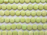 Lemon Chrysoprase Round Tabular Gemstone Beads 10mm (GS630)