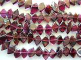 Garnet Irregular Diamond Gemstone Beads 6-8mm (GS708)