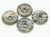 Gray Jasper Donut Pendant 40mm (AP1095)