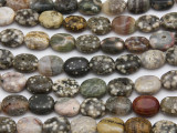 Ocean Jasper Oval Tabular Gemstone Beads 11-13mm (GS2769)
