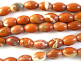 Poppy Jasper Barrel Gemstone Beads 15mm (GS2783)