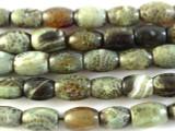 Green Fire Agate Barrel Gemstone Beads 14mm (GS2855)