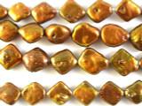 Copper Bronze Diamond Pearl Beads 14mm (PRL130)