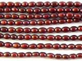 Burgundy Rice Pearl Beads 3mm (PRL132)