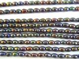 Jeweltone Metallic Rice Pearl Beads 4mm (PRL111)