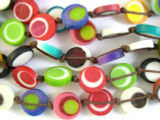 Multi-Color Round Tabular Resin Beads 10mm (RES519)