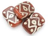 Brown Glass Tabular Bead 32-34mm (CB370)