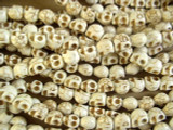 Natural Magnesite Skull Gemstone Beads 8-10mm (GS2632)