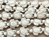 Natural Magnesite Turtle Gemstone Beads 18mm (GS2638)