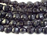 Black Howlite Skull Gemstone Beads 18mm (GS2660)