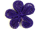 Woven Purple Flower Pendant 61mm (WVP11)