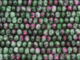 Ruby Zoisite Faceted Rondelle Gemstone Beads 6mm (GS2959)