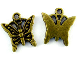 Brass Butterfly - Pewter Pendant 16mm (PW1117)