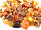 "Old Carnelian Agate Spade Beads - 41"" strand (OS96)"